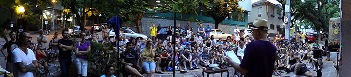 I gave my Nowtopia talk in front of Cafe Bonobo in Porto Alegre, Brazil, on Sunday, February 9.