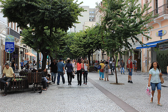 A huge pedestrian zone fills the center of the city.