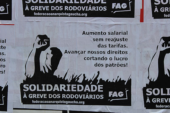 Transit strike poster, Porto Alegre.