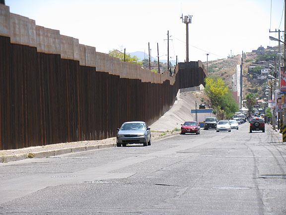 Nogales border fence.