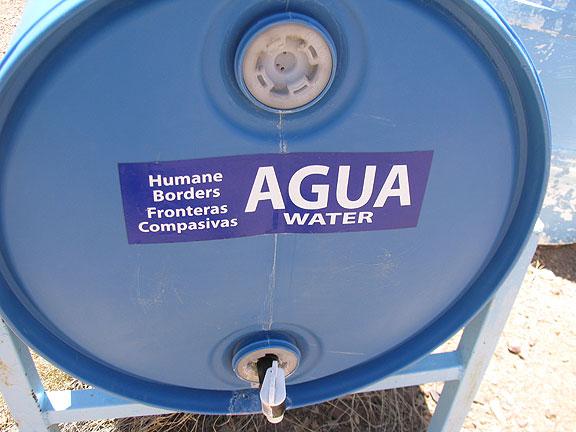 Humane borders water tank.