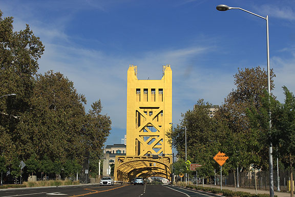 Here is the main road into the center of Sacramento from long before freeways.