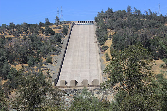 Clmbing up to the Oroville Dam, this spillway is the first obvious piece you see.
