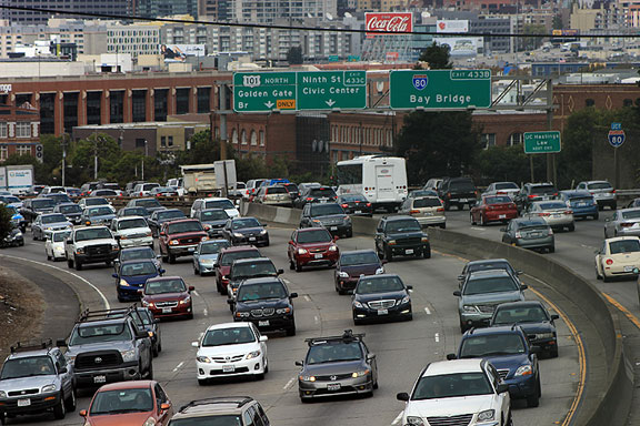 Where shall we put more cars? We're already at 10,000 cars per square mile, more than twice Los Angeles or Houston!