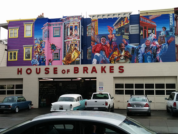 The long-fading Carnaval mural at 24th and South Van Ness has finally been restored...