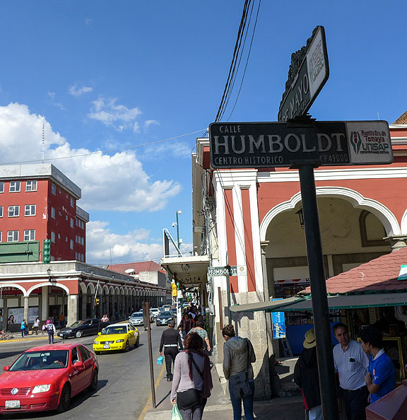 The heart of Guzman, with a street dedicated to the early German explorer Humboldt.