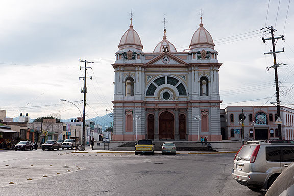This is the El Sanctuario church; ts historic photo is on a plaque at lower left.