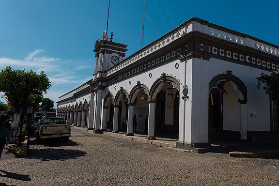 City Hall in Comala on its Zocalo.
