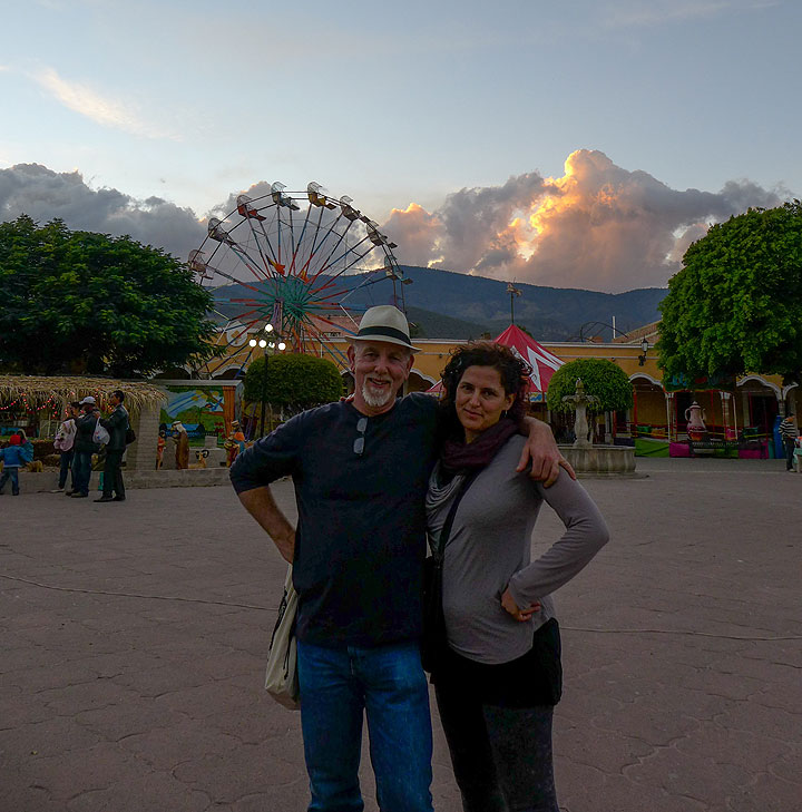 Sunset in the zocolo of Sulaya, a town 20 miles outside of Ciudad Guzman best known for its many small, family-run knife making businesses.