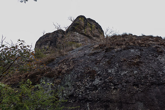 The massive volcanic debris left thousands of years ago.