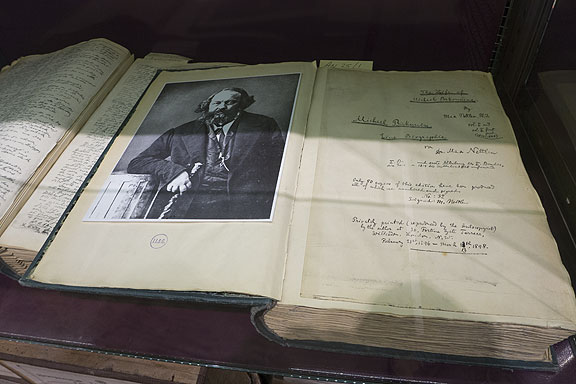 They have original hand-written manuscripts from Marx and Engels, but also this original book of Bakunin's.
