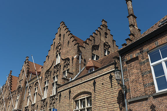 Incredible brickwork adorns many buildings in Bruges.