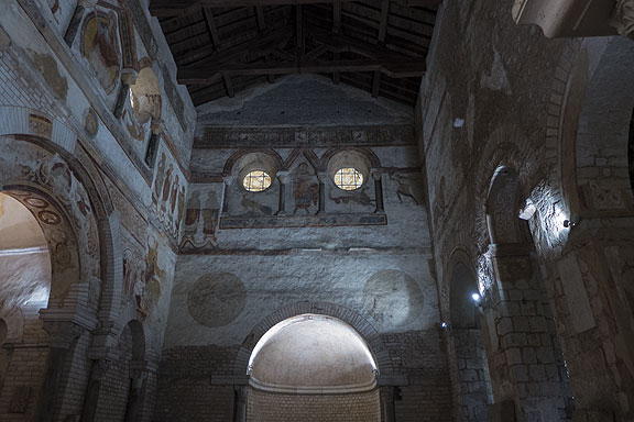 Frescoes on the interior of the Baptistere St. Jean, at least 1000 years old!