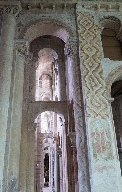 Interior of St. Hilaire, another 1000-year-old church in Poitiers.