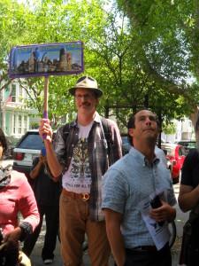 Glenn Bachmann protesting economic cleansing!