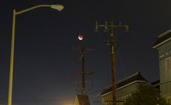 Everyone went crazy for the Blood Moon the other night... seen here above 25th Street around the corner from home.