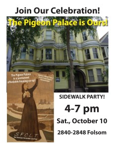 Come out and join us this Saturday for a sidewalk party!