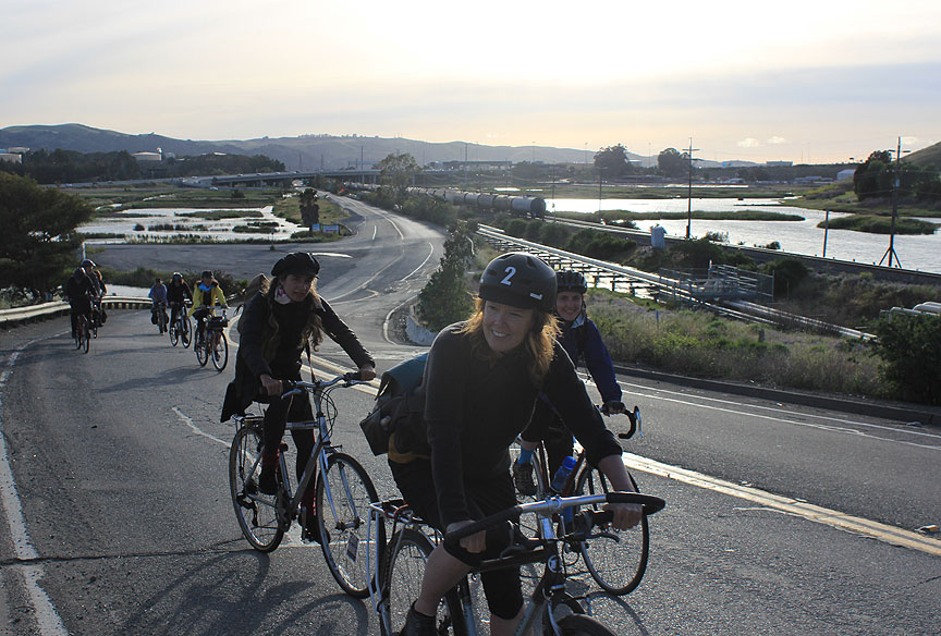 Riding along the Carquinez Straits in summer 2014.