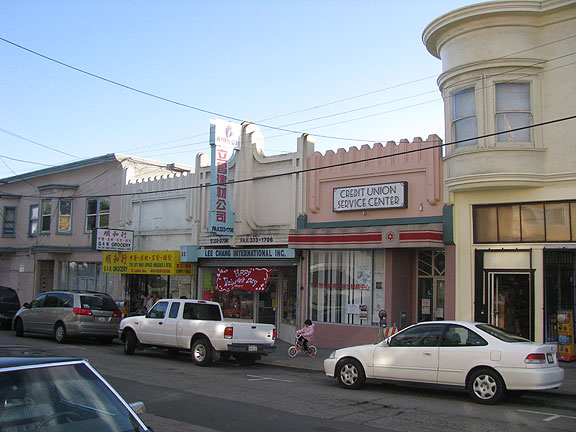 Leland Street in Visitacion Valley, where Mary brought an art deco storefront to our attention.