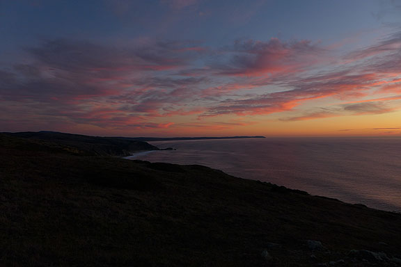 Sunset at Pt. Reyes, November 28, 2015.