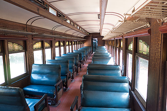You can even visit the inside of an old luxurious passenger car.