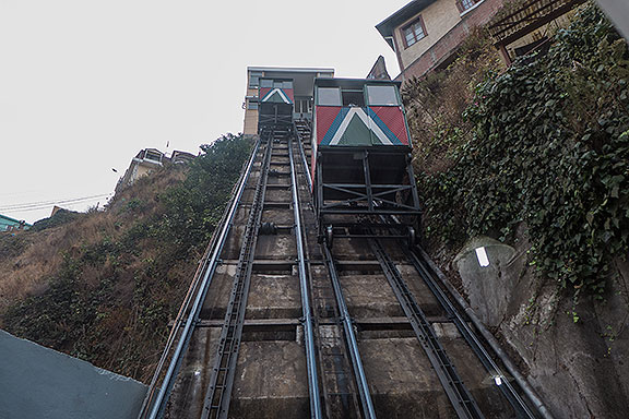 One of many ascensores, or funiculars, traversing the steep slopes.