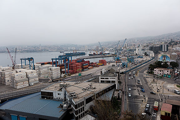 Valpo has a thriving container port.