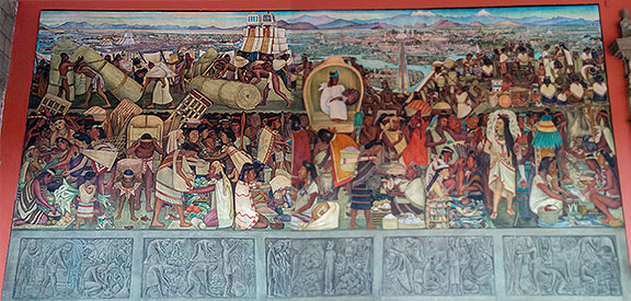 In the National Palace got to gaze at Rivera's amazing murals again, this one depicting the City when it was an island...