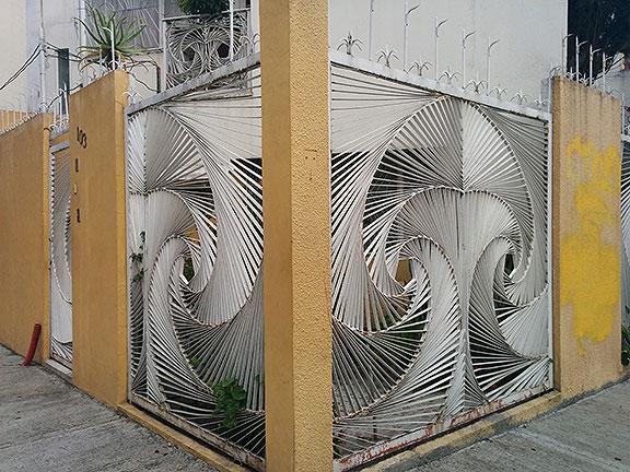A beautiful fence in Santa Maria de Ribera, one of my favorite neighborhoods.