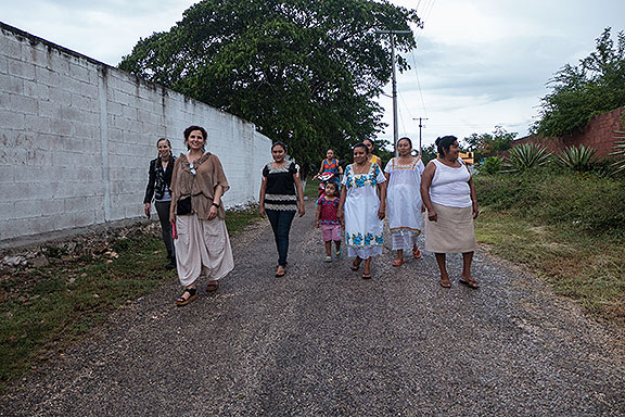 The Gongora women with Adriana after visiting the cemetery.